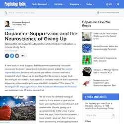Dopamine Suppression and the Neuroscience of Giving Up