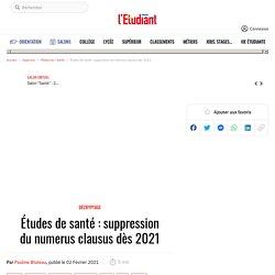 Études de santé : suppression du numerus clausus dès 2021 - L'Etudiant