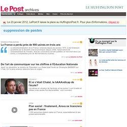 Suppression de postes - LePost.fr