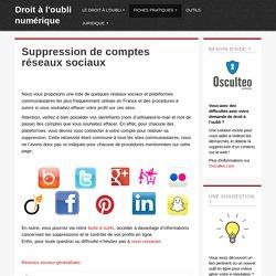 Suppression de comptes réseaux sociaux