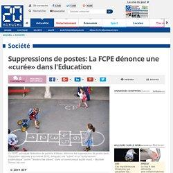 Suppressions de postes: La FCPE dénonce une «curée» dans l'Education