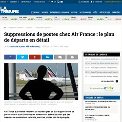 Suppressions de postes chez Air France: le plan de départs en détail