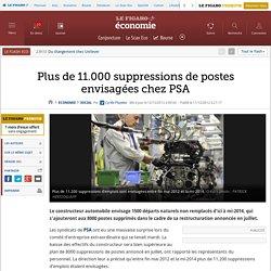 Social : PSA: plus de 11000 suppressions d'emplois en vue
