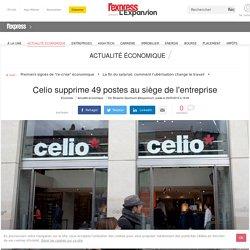 Celio supprime 49 postes au siège de l'entreprise