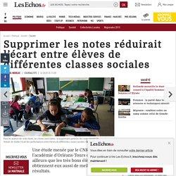 Supprimer les notes réduirait l'écart entre élèves de différentes classes sociales, Société