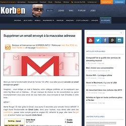 Supprimer un email envoyé à la mauvaise adresse