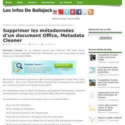 Supprimer les métadonnées d'un document Office, Metadata Cleaner