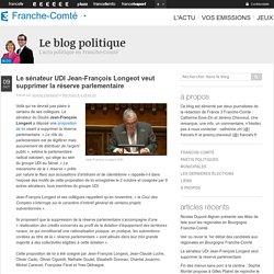 Le sénateur UDI Jean-François Longeot veut supprimer la réserve parlementaire