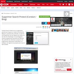 Supprimer Search Protect (Conduit / Bing)