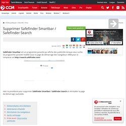 Supprimer Safefinder Smartbar / Safefinder Search