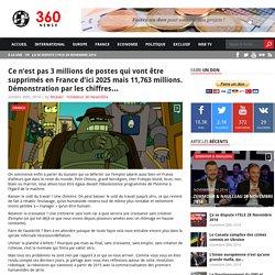 Ce n'est pas 3 millions de postes qui vont être supprimés en France d'ici 2025 mais 11,763 millions. Démonstration par les chiffres…