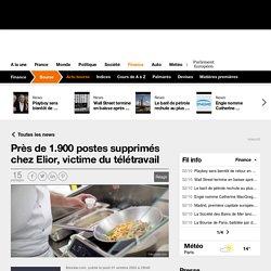 Près de 1.900 postes supprimés chez Elior, victime du télétravail