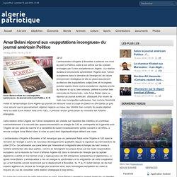 Amar Belani répond aux «supputations incongrues» du journal américain Politico