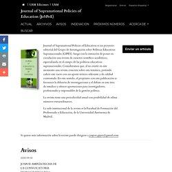 Journal of Supranational Policies of Education (JoSPoE)