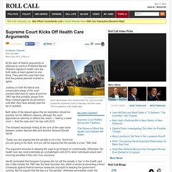 Supreme Court Kicks Off Health Care Arguments