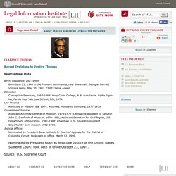 LII: US Supreme Court: Justice Thomas