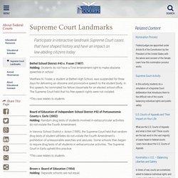 Supreme Court Landmarks