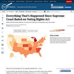 How Supreme Court Decision on Voting Rights Act is Affecting State Laws