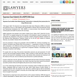 Supreme Court Admits IA in NDPS 64A Case