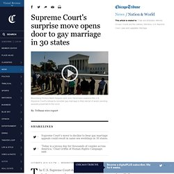 Supreme Court won't hear gay marriage appeals