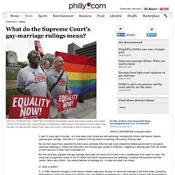 What do the Supreme Court's gay-marriage rulings mean?