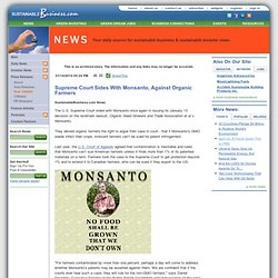 Supreme Court Sides With Monsanto, Against Organic Farmers