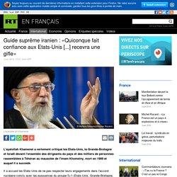 Guide suprême iranien : «Quiconque fait confiance aux Etats-Unis [...] recevra une gifle»