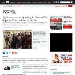 Fight ends over early voting in Ohio as US Supreme Court refuses to step in
