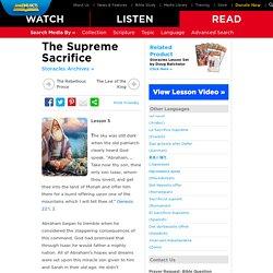 The Supreme Sacrifice