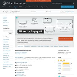 Slider by Supsystic — WordPress Plugins