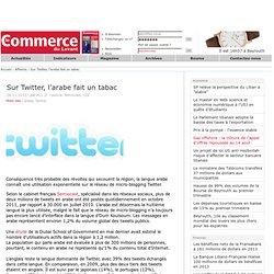 Sur Twitter, l'arabe fait un tabac