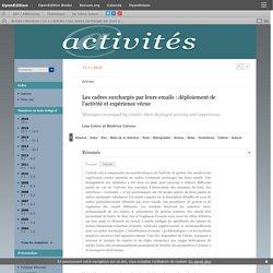 Les cadres surchargés par leurs emails: déploiement de l'activité et expérience vécue