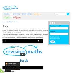 Surds - Mathematics GCSE Revision