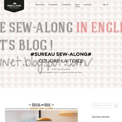 #Sureau sew-along# Coudre la toile