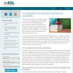 10 Surefire Tips for Motivating ESL Learners – Masters in ESL