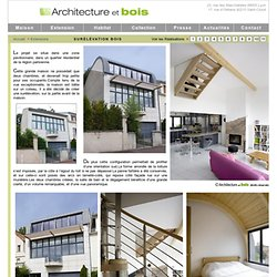 Agrandir sa maison Extension bois