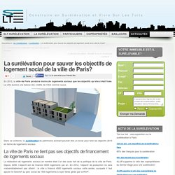La surélévation pour tenir les objectifs de logement social à Paris?