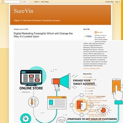 SureVin: Digital Marketing Foresights Which will Change the Way it's Looked Upon