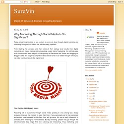 SureVin: Why Marketing Through Social Media Is So Significant?