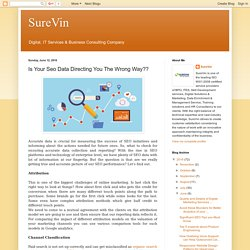 SureVin: Is Your Seo Data Directing You The Wrong Way??