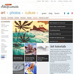Surf Art Tutorials on Club Of The Waves
