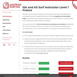 ISA and AS Surf Instructor Level 1 France