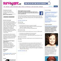 Surfa Lugnt Råd för hur du delar bilder och info på internet