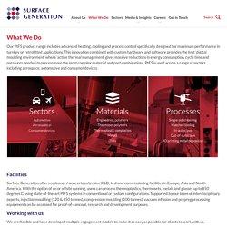Surface Generation's PtFS technology product range