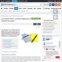 Loi Duflot-Pinel : surface habitable et plafond de loyer