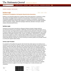 Surface Logic « The Mathematica Journal