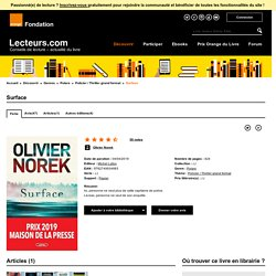 Surface de Olivier Norek aux éditions Michel Lafon