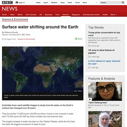 Surface water shifting around the Earth