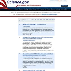 hf surface wave: Topics by Science.gov