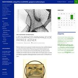 Les surfaces minimales de Patrice Jeener, par Hervé Lehning